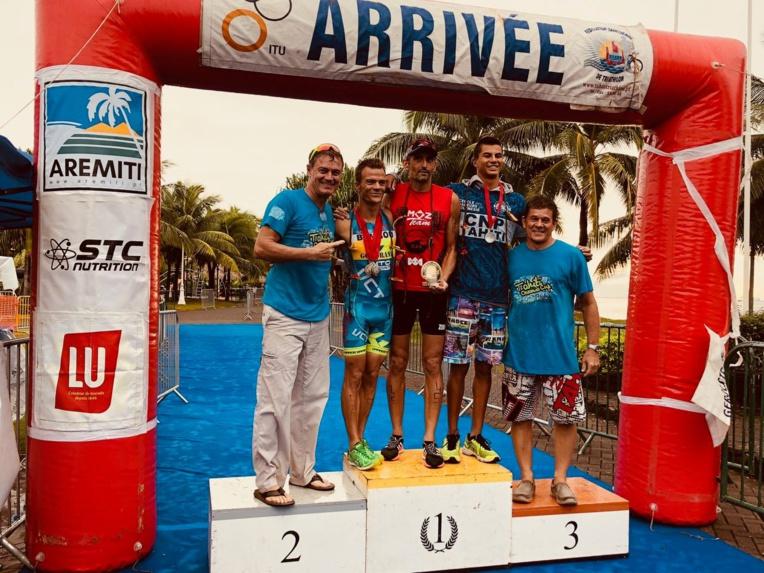 Le podium de la catégorie open