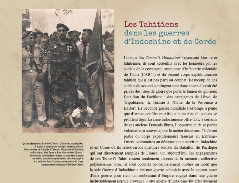 Les Tahitiens dans les guerres d'Indochine et de Corée