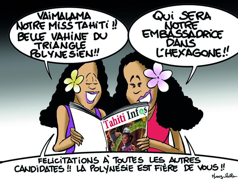 """"""" Vaimalama, Miss Tahiti 2018 """" par Munoz"""
