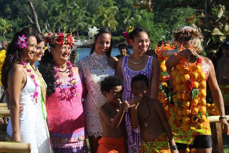Tout Punaauia est associé à la fête de l'orange, y compris les Miss.