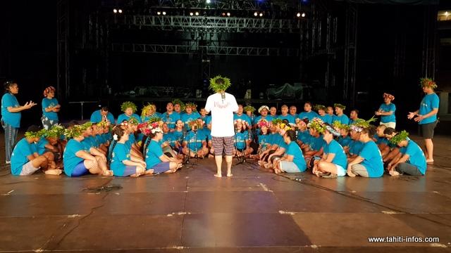 Plus de 80 chanteurs composeront ce groupe de chant, inscrit en tārava tahiti.