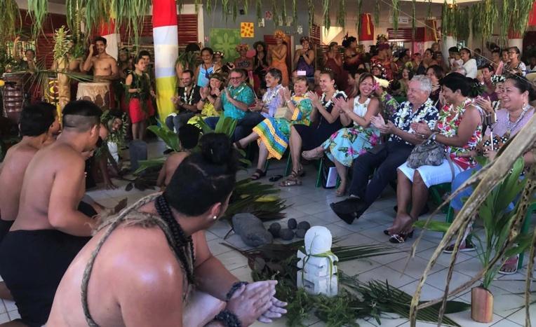 La tradition marquisienne a été mise à l'honneur. Crédit Présidence de la Polynésie française.