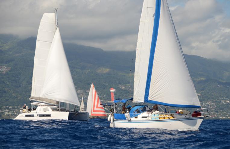 La traversée Tahiti Moorea a été effectuée le samedi matin