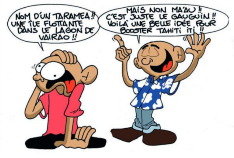 """"""" Le Paul Gauguin fait escale à Vairao """" par Munoz"""