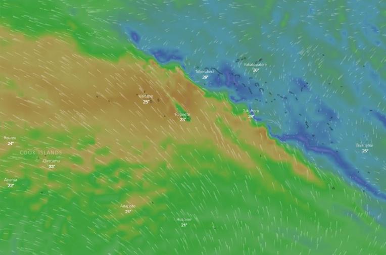 Un vent soutenu de secteur Sud (mara'amu), avec des pointes à 35 nœuds, souffle sur la région depuis ce dimanche.