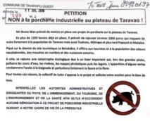 Taiarapu Ouest lance une pétition contre le projet d'élevage porcin