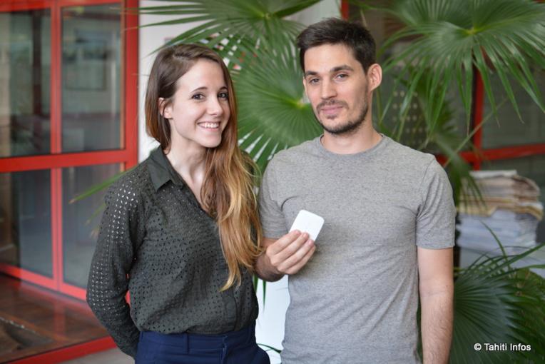 Vanessa Maudet et Alexandre Parise, les deux fondateurs de Tahiti Wifi.