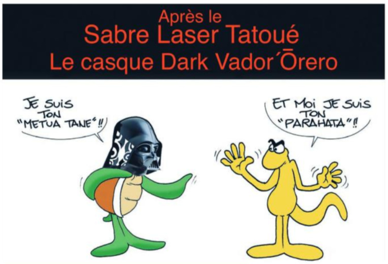 """"""" Le sabre laser tatoué """" vu par Munoz"""