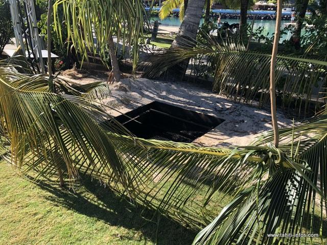 Le four tahitien est prêt.