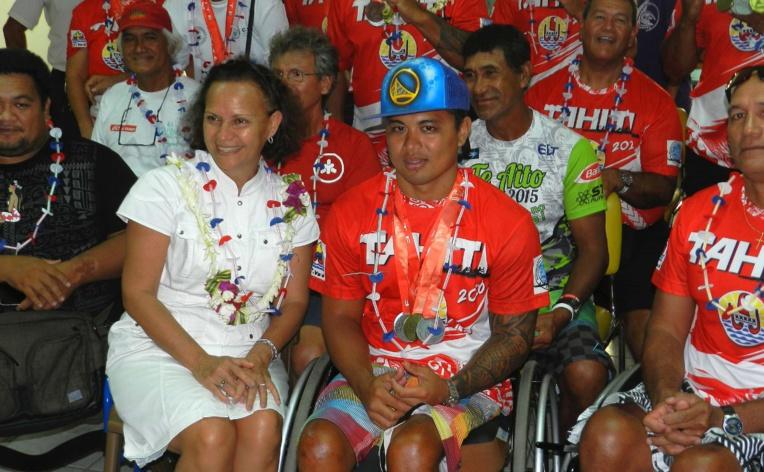 Rencontre avec les médaillés des championnats du monde de vitesse en parava'a