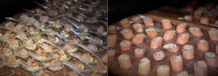 Des exemples de verrines qui seront préparés pour l'occasion.