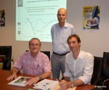 Claude Périou (IEOM), Thierry Paulais (AFD) et Fabien Breuil (ISPF)