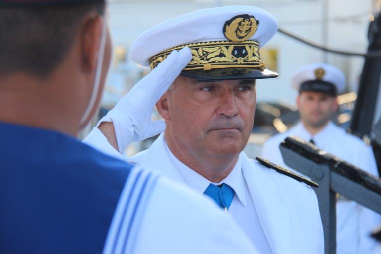 Le contre-amiral Laurent Lebreton, commandant supérieur des forces armées en Polynésie française.