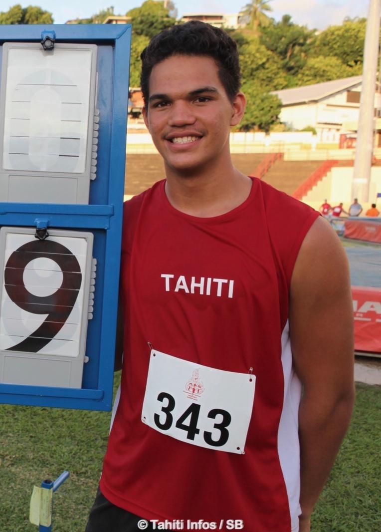 Teura Tupaia, un surdoué de l'athlétisme polynésien, brille au niveau national
