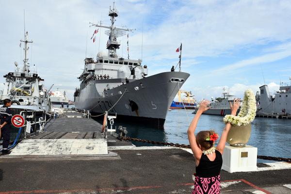 Le Prairial de retour à Papeete après trois mois de mission