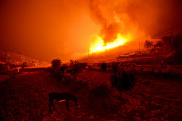 Le feu menace une ville touristique du sud du Portugal