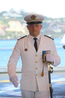 Le Capitaine de frégate Sylvain Faya.
