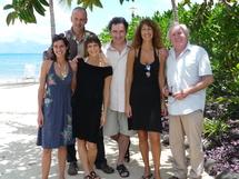 deg à droite : Claire rabant, Guillaume, Corinne Honikman, François Morel, Valérie Levy et olivier Saladin