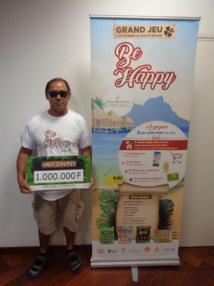 Double chance pour l'un des gagnants du jeu-concours Be Happy