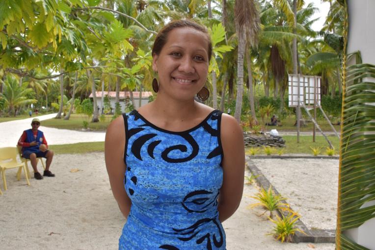 Kahaia Tuteirihia, 23 ans, auxiliaire de Santé à Hereheretue