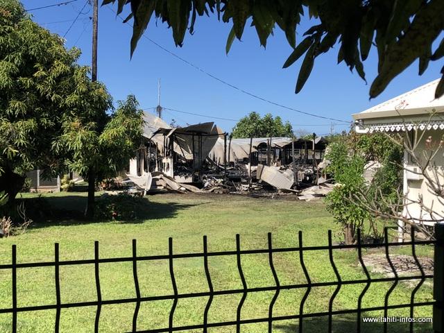 La seconde maison touchée se situe sur une propriété familiale dans le quartier Graffe.