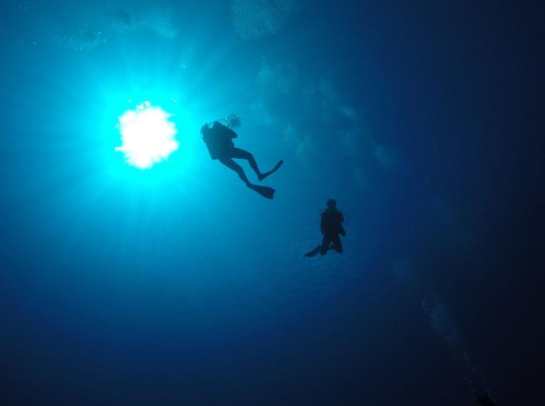 Après une bonne heure d'immersion, le lent retour vers la surface.