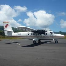 Le F-OIQP, appartient au groupe Air Tahiti. Crédit Air Archipels