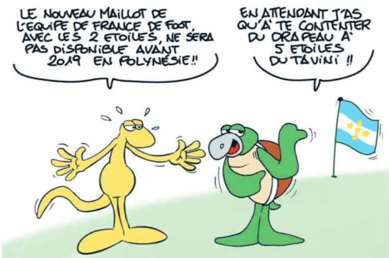 """"""" Le maillot 2 étoiles de l'équipe de France de foot """" vu par Munoz"""