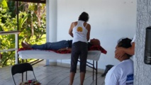 Séance d'initiation gratuite au reiki organisée par l'association Reiki Polynésie. Crédit Rotary