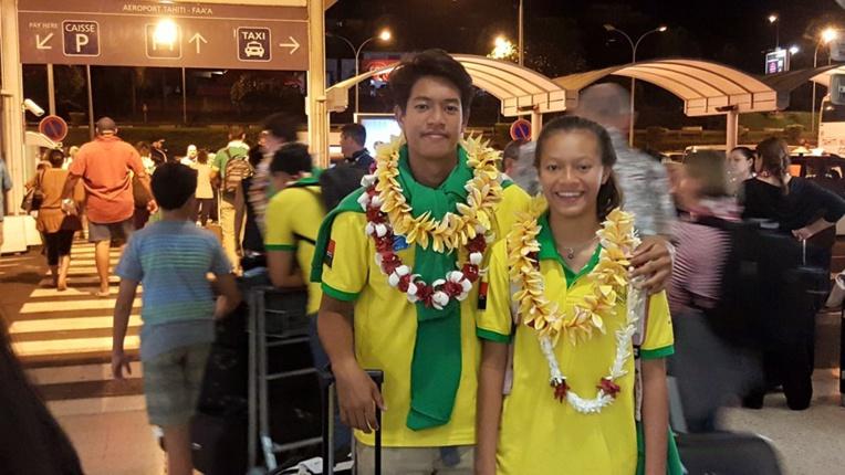 Keali'i avec sa sœur Kiani
