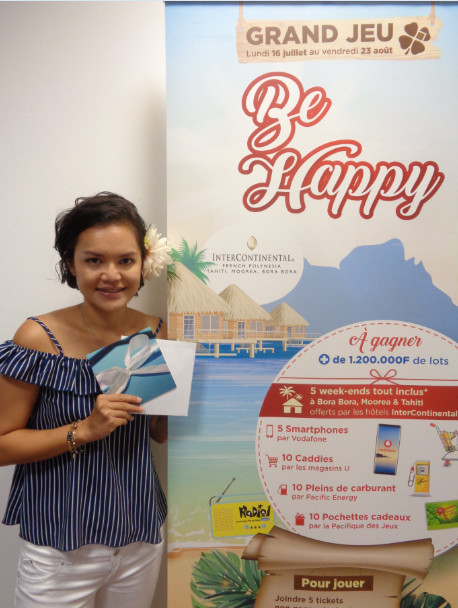 Pacifique des Jeux  : Retrouvez le nom des gagnants du jeu concours Be Happy 2018