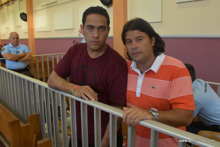 Heimanu Hiro et Moerani Marlier, vendredi peu avant le rendu de la décision de justice.