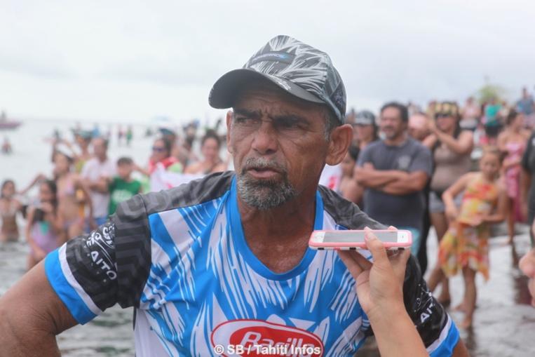 Roland Teahui gagne la course des vétérans