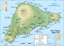 L'île de Pâques mesure environ 162 km2, alors que l'île de Rapa ne couvre que 40 km2.