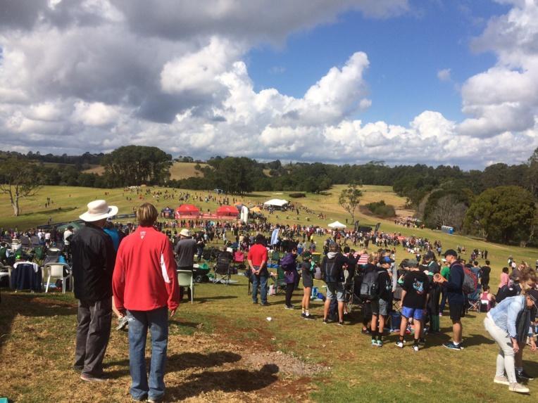 La course s'est déroulée sur un terrain de golf