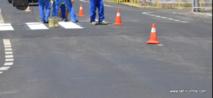 Travaux sur la route dans le centre-ville de Papeete