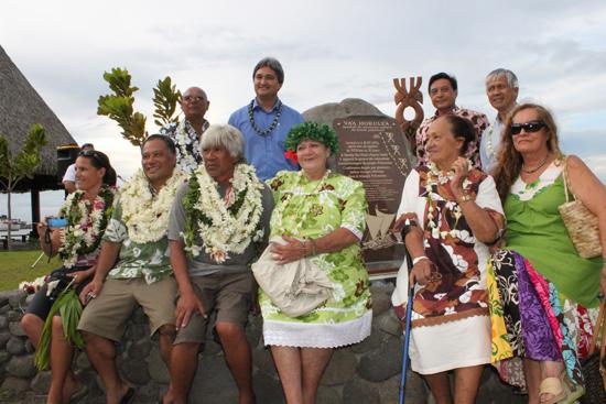 Inauguration de la plage HOKULE'A, jardin de Paofai