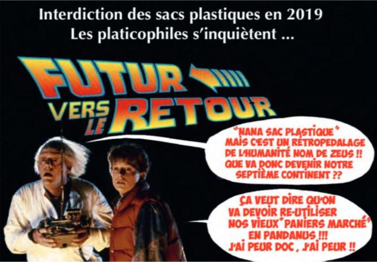 """ L'interdiction des sacs plastiques en 2019 "" vu par Munoz """