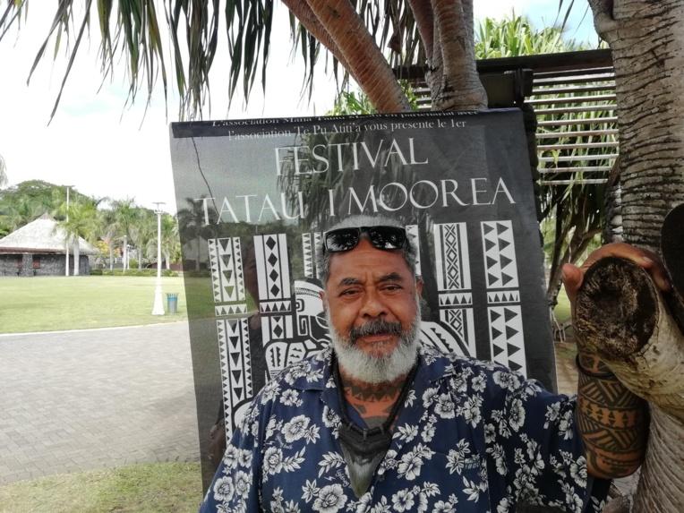 Samuel Huna, président de l'association Mana Tatau Maohi.