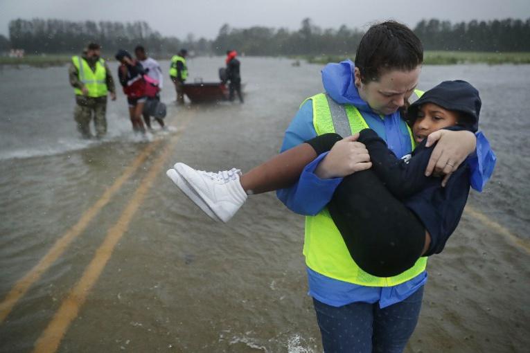 L'ouragan Florence s'abat sur la côte atlantique américaine