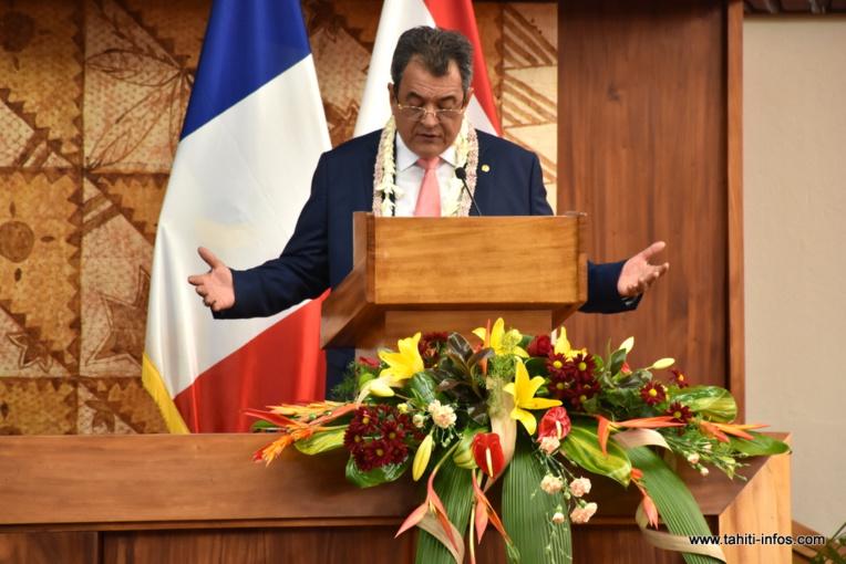 Ouverture de la session budgétaire 2018 : le discours d'Edouard Fritch
