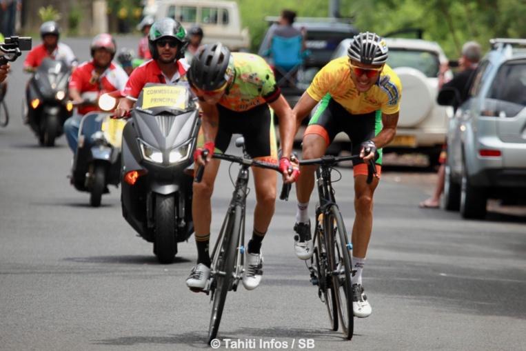 Taruia Krainer est arrivé deuxième au sprint dans la montée du Belvédère
