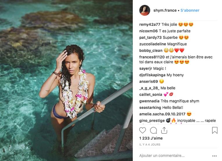 En vacances à Tahiti, Shy'm pose seins nus sur son compte Instagram