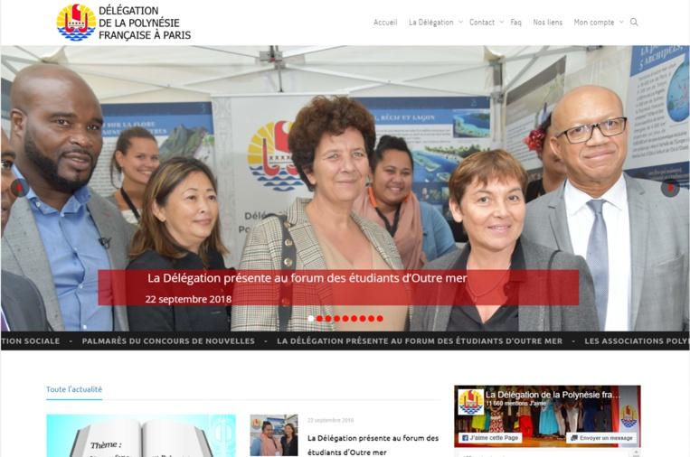 Le nouveau site internet de la Délégation de la Polynésie à Paris