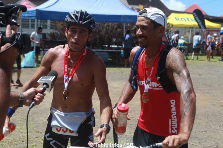 Teiva Izal et Vaihiria Ponsard, gagnants du run & bike