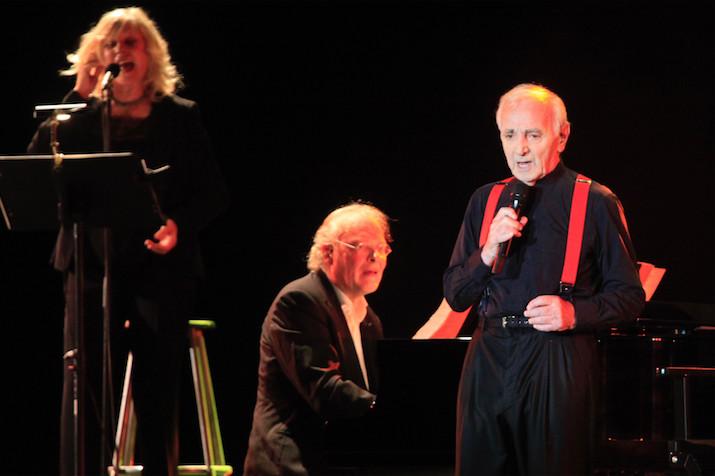 A Tahiti, en 2017.Charles Aznavour était accompagné d'Erik Berchot, titulaire du prix Fréderic Chopin, un des meilleurs pianistes contemporains