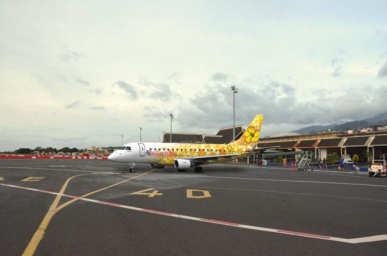 Islands Airline demande une licence de transporteur pour opérer des vols domestiques réguliers à destination de Bora Bora, Raiatea, Huahine, Rangiroa, Hao, Tubuai, Nuku Hiva et l'ouverture de lignes régulières à destinations des îles Cook et Samoa (Illustration : photomontage).