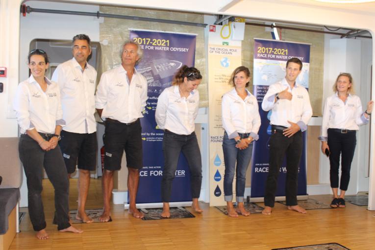 Les membres de l'équipe de la Race For Water.