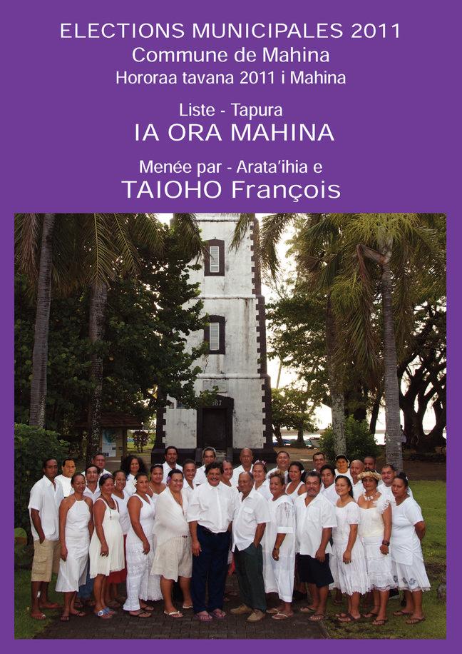 Profession de foi et programme de Porinetia Ora