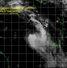 Photo satellite du cyclone tropical Anthony le 24 janvier 2011 à 11h32GMT-Joint Typhoon Warning Centre (US Navy, Hawaii)-
